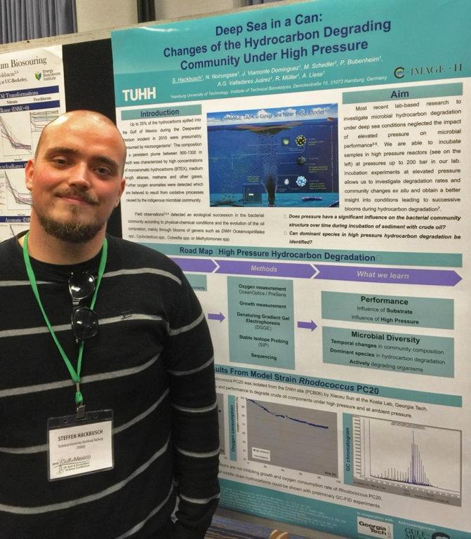 GoMRI Scholar-Grad Student Hackbusch Pressures Marine Microbes For Information