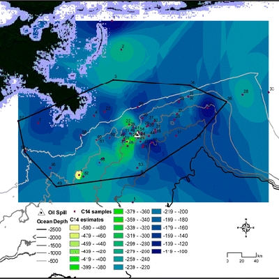 Using Natural Abundance Radiocarbon To Trace The Flux Of Petrocarbon To The Seafloor Following The Deepwater Horizon Oil Spill
