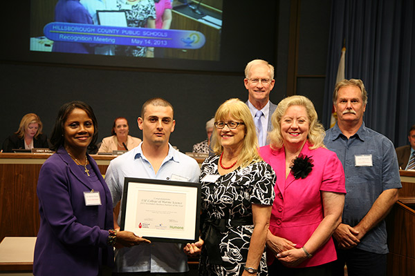2013 Business Partner of the Year USF College of Marine Science