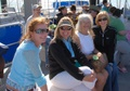 Holly, Desiree, Flo and Dawna on ferry to Caladesi