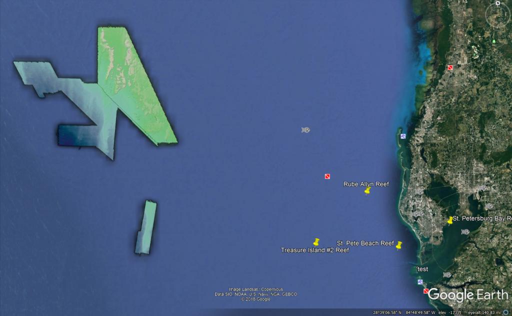 Bathymetry data in Google Earth