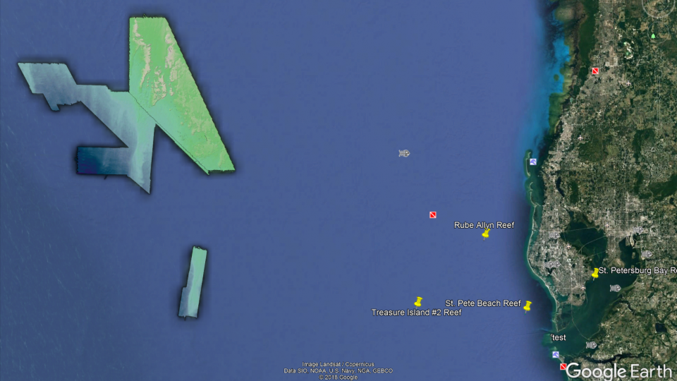 View our bathymetry data in Google Earth!