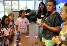 Makenzie Burrows and Ellie Hudson-Heck and Students from the Girls Inc of Pinellas