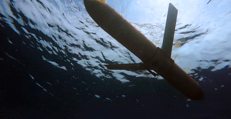 A USF glider deployed to measure water quality proxies for red tide
