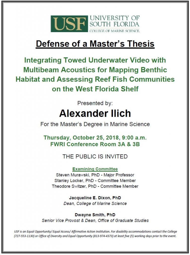Alexander Ilich Defense of a Master's Thesis