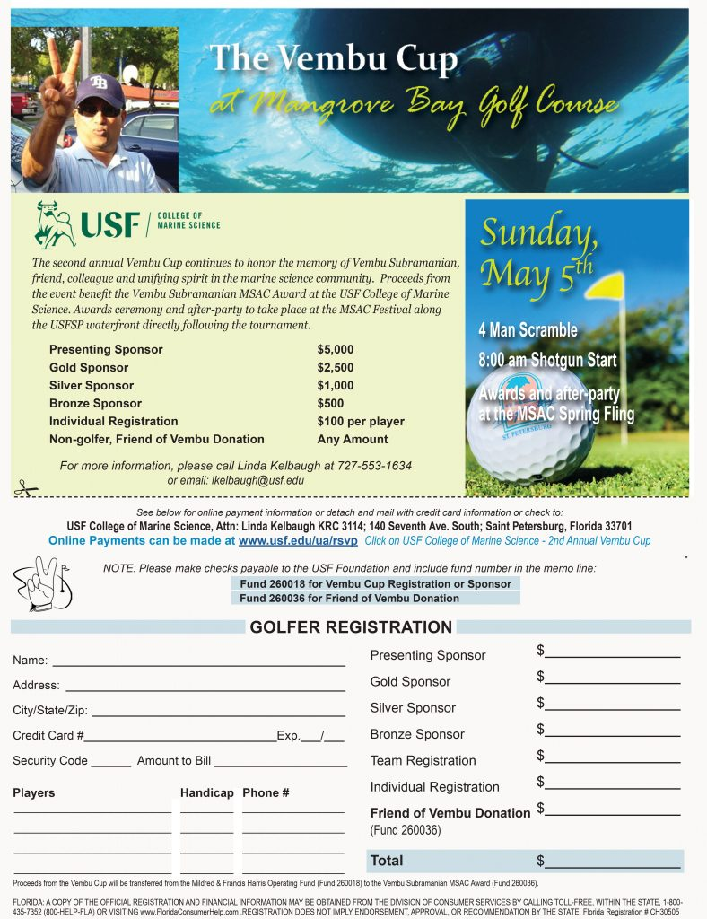 The 2nd Annual Vembu Cup – USF College of Marine Science