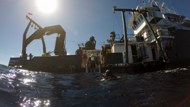 Photo of 24 hours of Oceanography:  offshore buoy deployment and validation