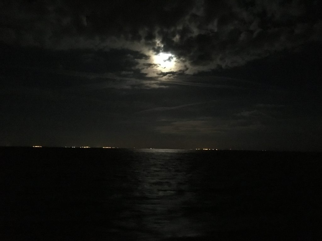Full Moon Viewed From the R/V Weatherbird II