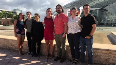 Photo of Grad students wrap up second day at the 2019 ASLO conference in Puerto Rico