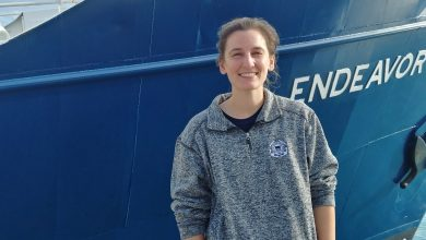 Photo of Graduate Student Sets Sail on the R/V Endeavor out of Bermuda