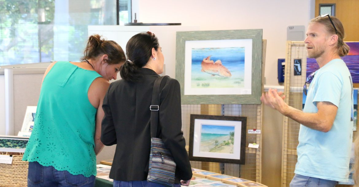 Scientists and artists converse at the Oil Spill Artwork Premiere and Deepwater Horizon Anniversary