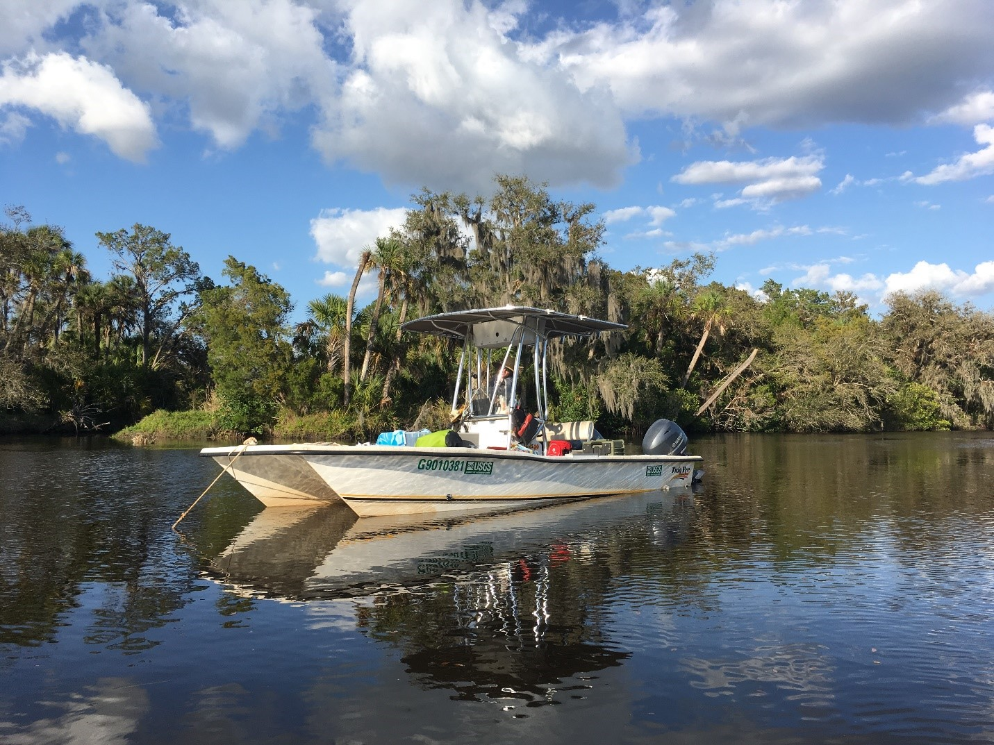 24-hour sampling in full swing upstream on the Manatee River.