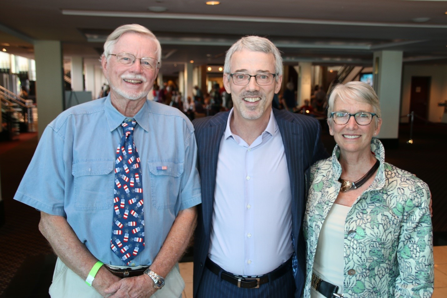 From left to right:  Dr. Albert Hine, Mearns' adviser during graduate school, David Mearns, and Dean Jacqueline Dixon.