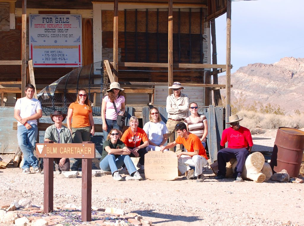 Jackie Dixon with the Rhyolite Group
