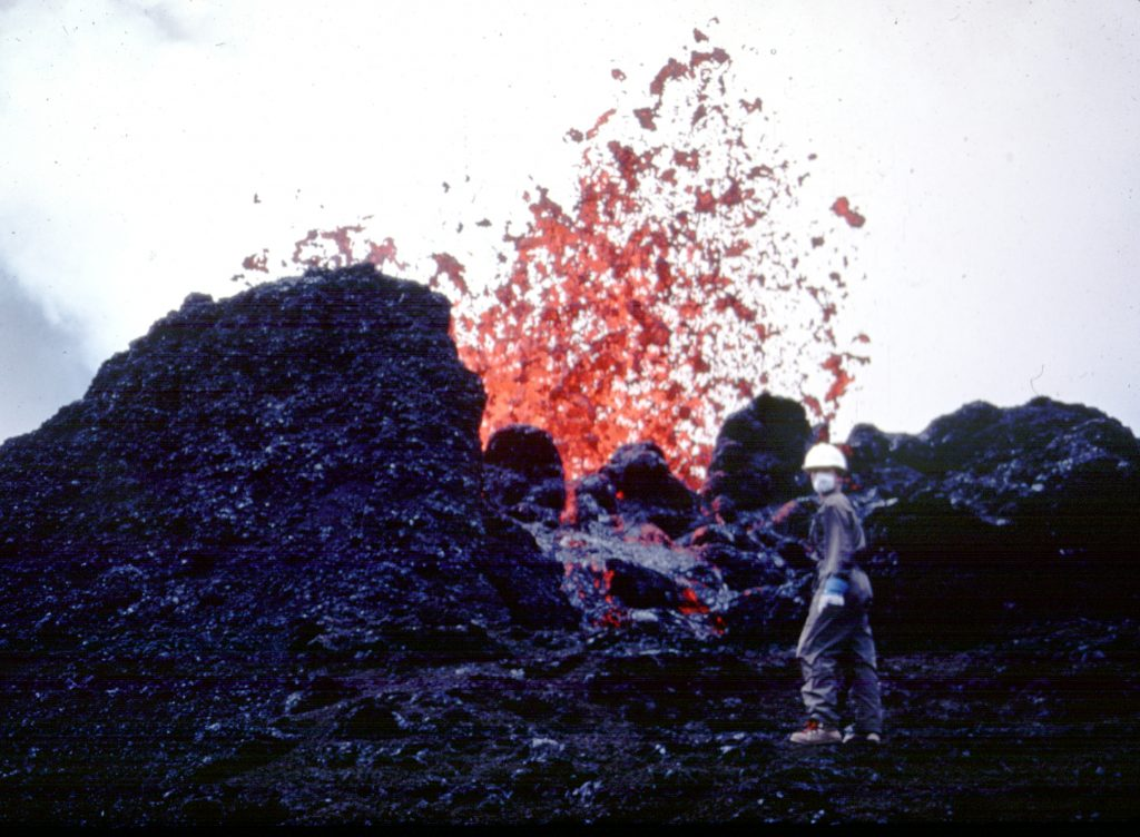 Jackie Dixon Standing Next to Lava