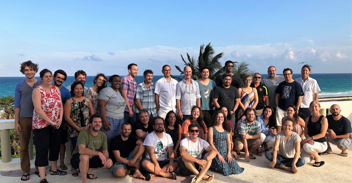 The scientists who participated in the 2nd Marine Biodiversity Workshop: from the Sea to the Cloud.