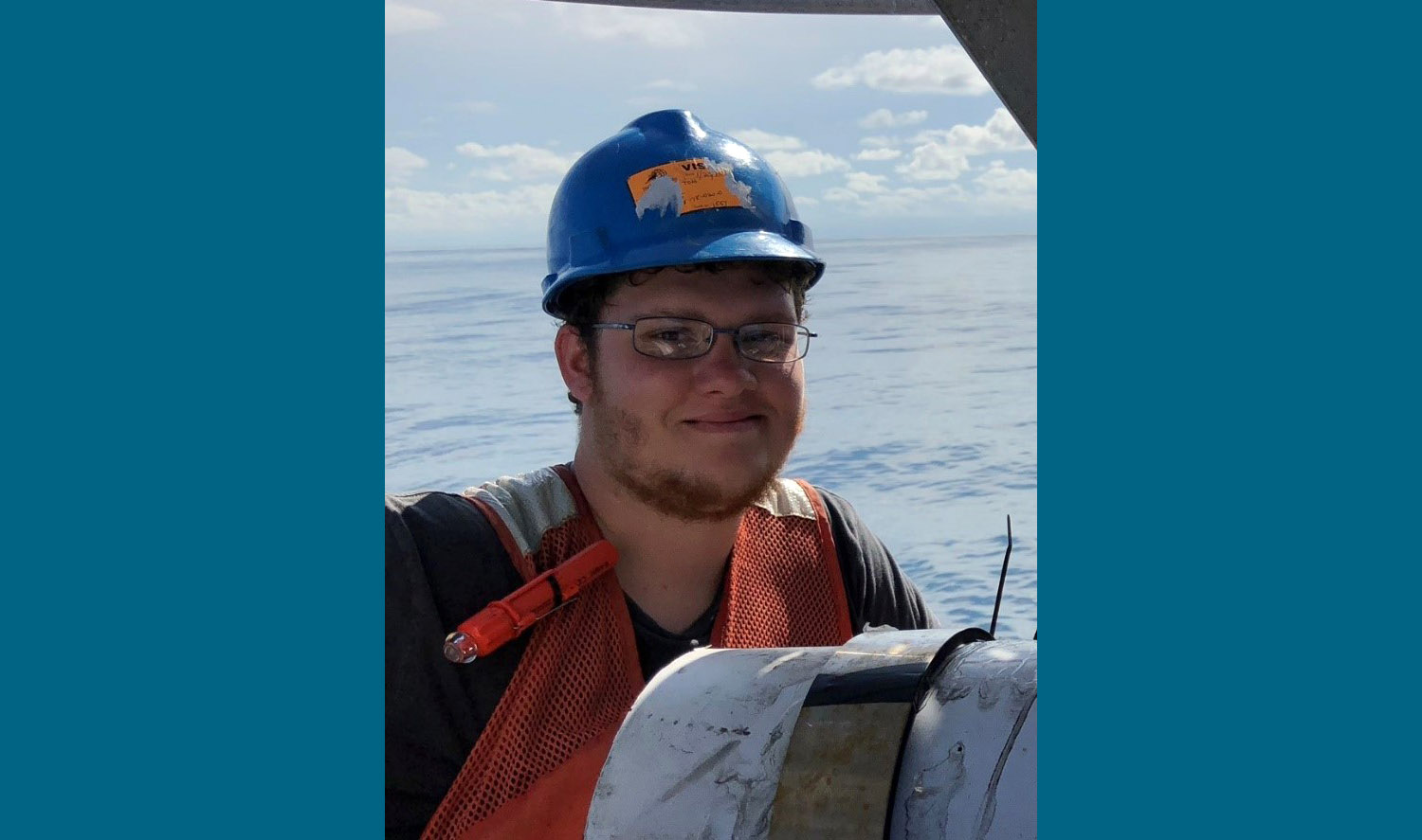 USFCMS intern Sebastian DiGeronimo for being awarded a competitive UNOLS MATE paid internship for 2019.