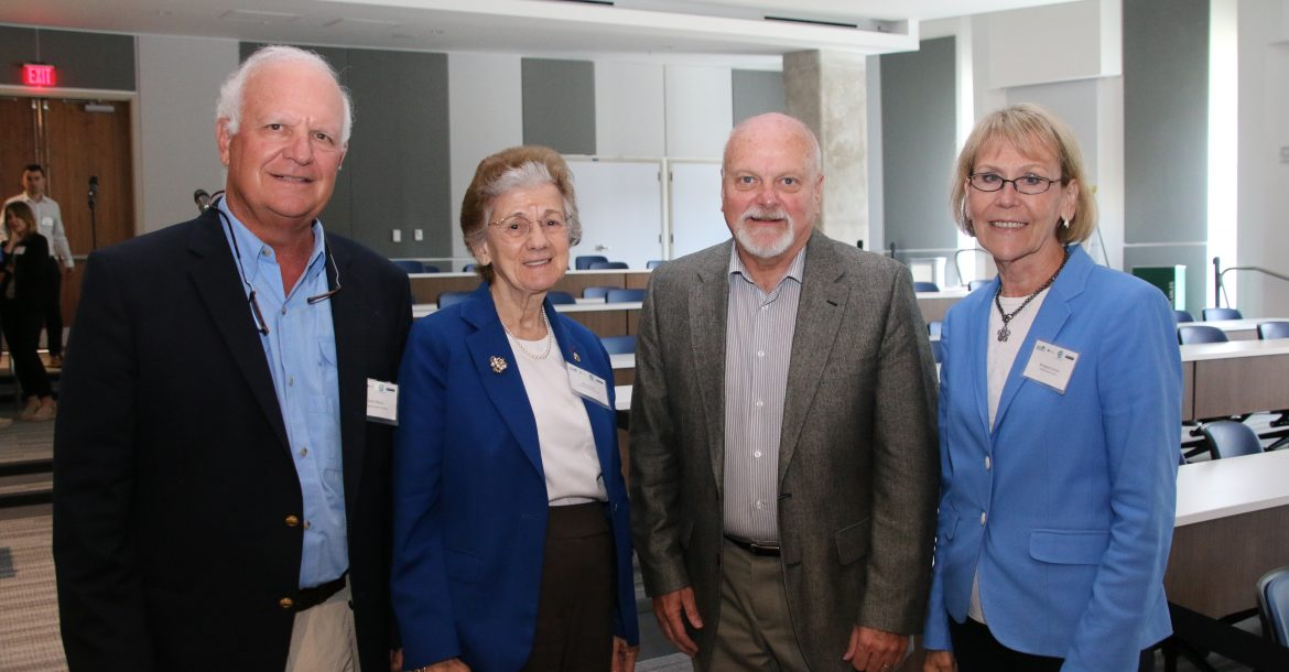 Dr. Charles 'Chuck' Wilson, Dr. Rita Colwell, Dr. Steven Murawski, and Dr. Margaret Leinen after a productive first day of overviews.