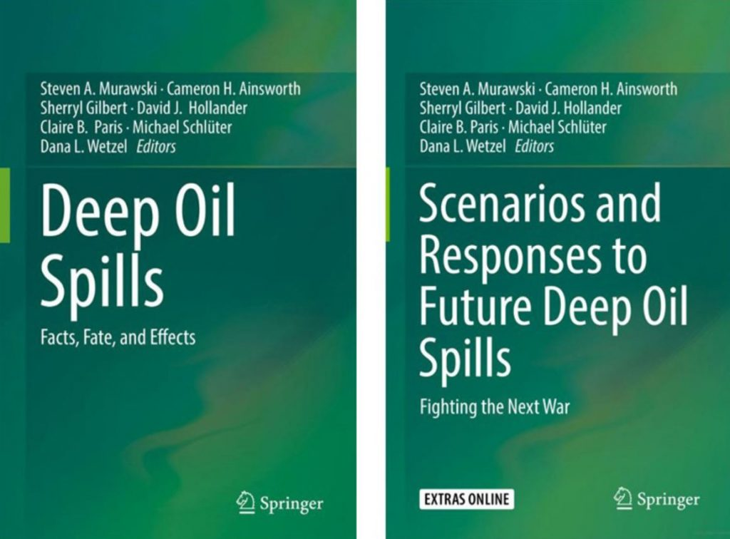 This Two Volume Book series synthesizes oil spill science since Deepwater Horizon. The books contain 63 chapters collaboratively authored by over 150 researchers (representing academia, oil industry, and government scientists and contractors). Images used with permission from Springer's publishing editor for life sciences