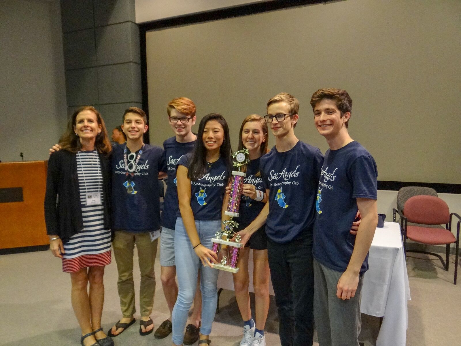 Teens Engaging super powers for all things Ocean during the regional Spoonbill Ocean Bowl competition, part of the National Ocean Sciences Bowl