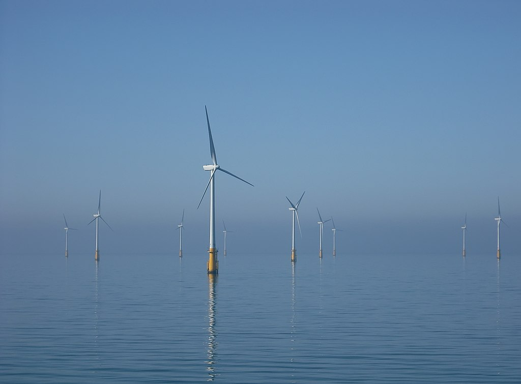 Wind farms like this one pictured in the Irish Sea might make their way to the U.S. through the efforts of Orsted, a company that Dr. Shane Dunn has recently worked with.