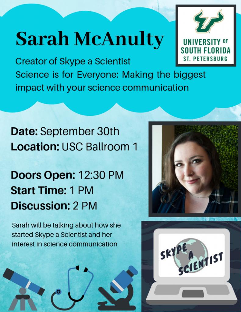 Special Seminar - Sarah McAnulty - Skype a Scientist Creator