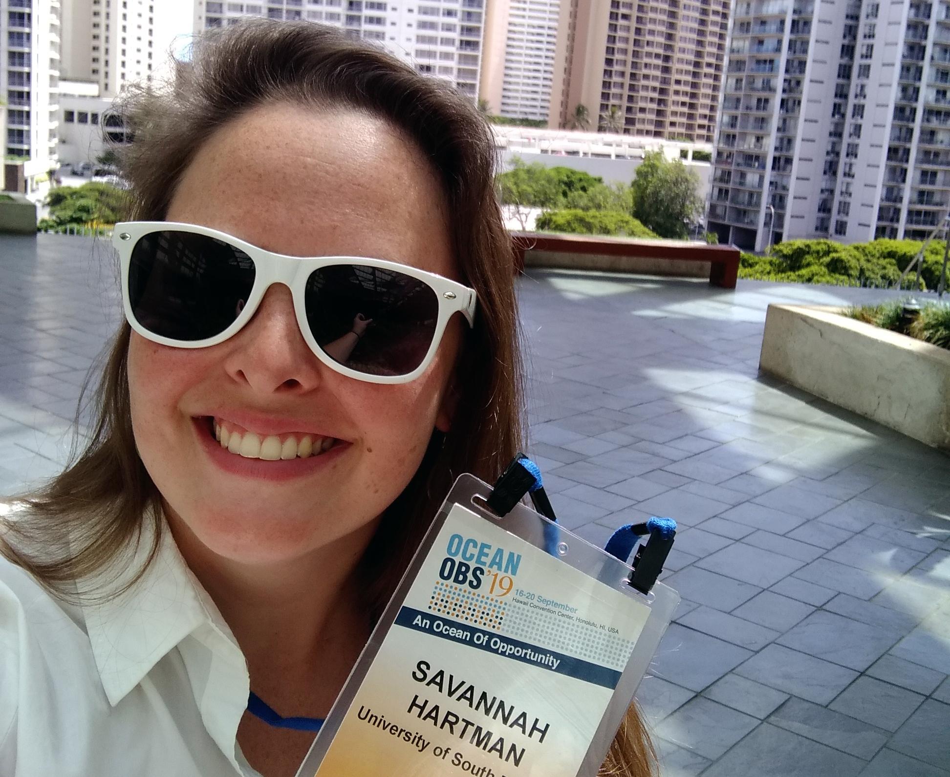 Savannah Hartman at the Hawaiian Convention Center