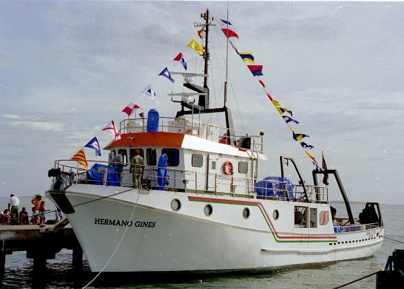 The R/V Hermano Gines of the Fundación La Salle de Ciencias Naturales de Venezuela served as the research platform for the monthly and seasonal oceanographic cruises throughout the CARIACO Ocean time Series Program.