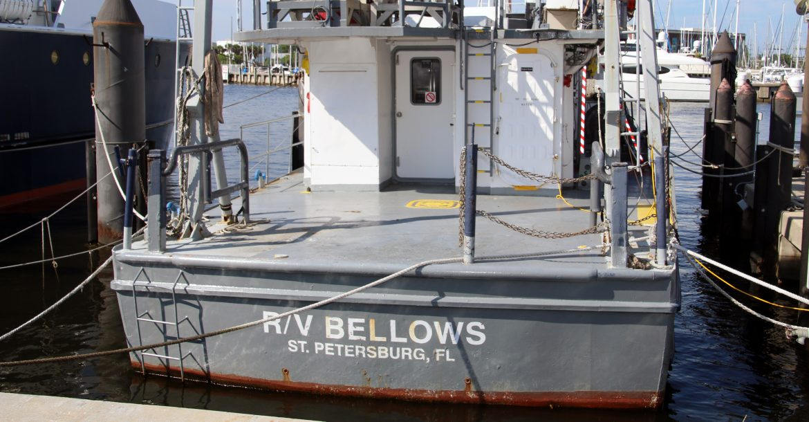 The R/V Bellows, docked alongside its replacement the R/V Hogarth in recent months, will soon set sail as a shipwreck hunter.