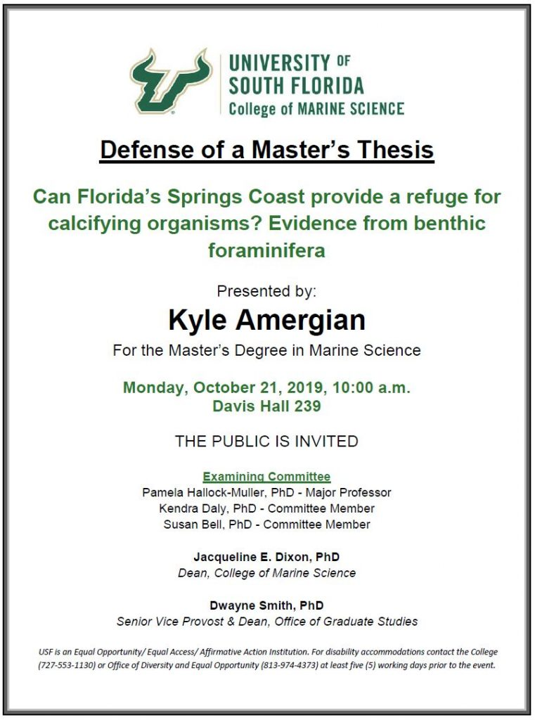 Kyle Amergian, Defense of a Master's Thesis