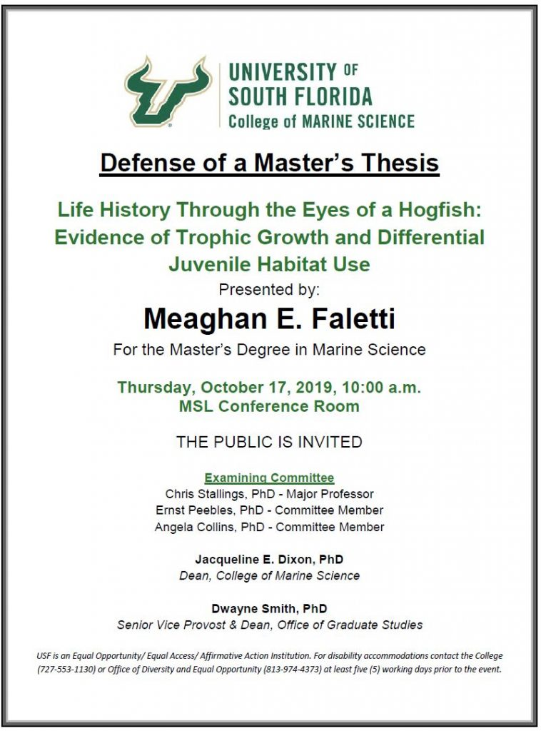 Meaghan E. Faletti, Defense of a Master's Thesis