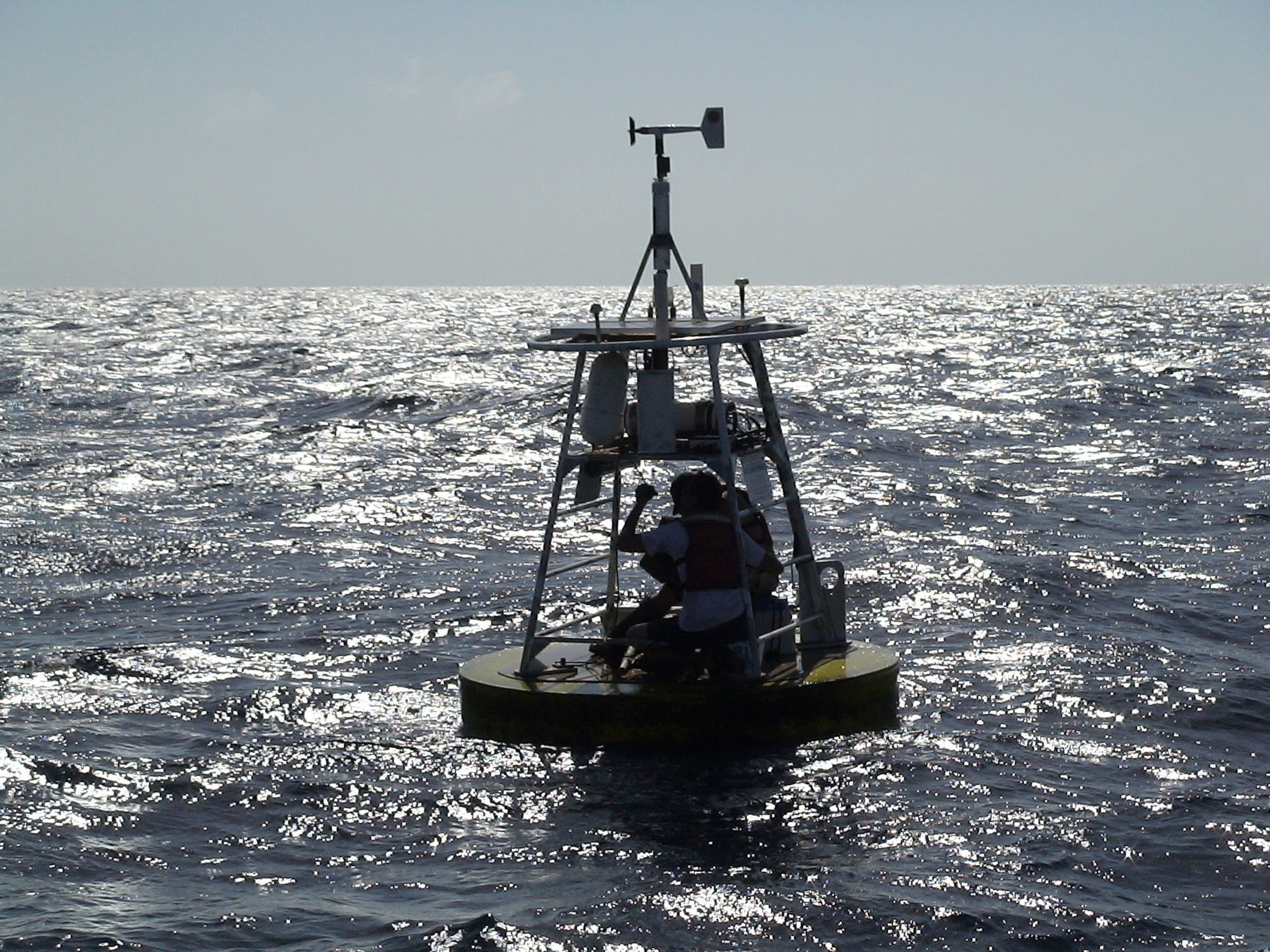COMPS buoy maintenance in the Eastern Gulf of Mexico in 2008.