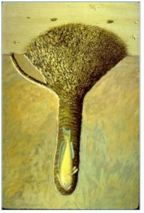 Illustration showing what a tilefish burrow looks like on the seafloor. Credit: Dr. Ken Able
