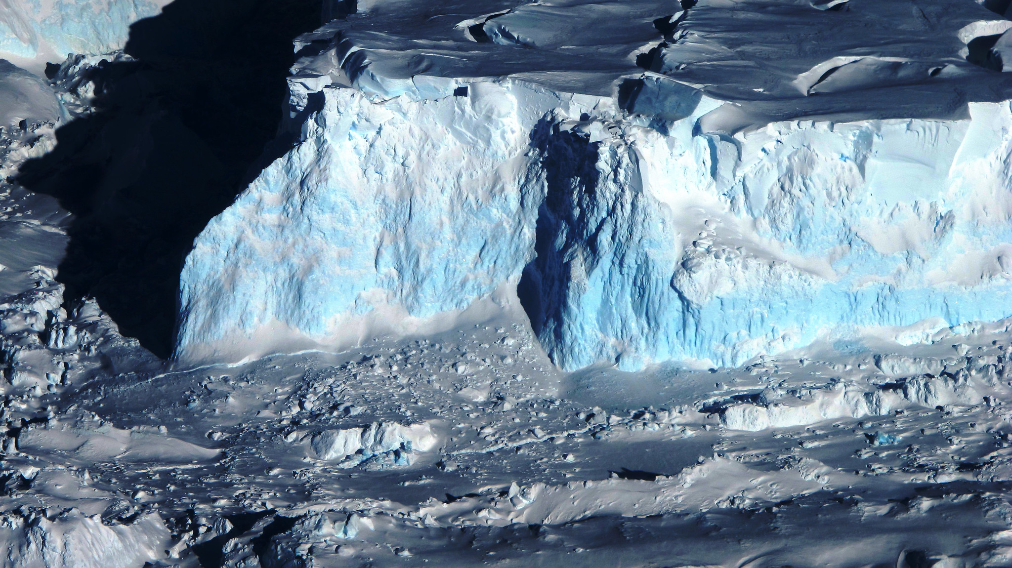 Thwaites Glacier in West Antarctica. Image Credit: NASA/James Yungel